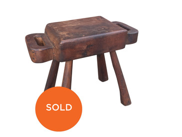 Antique Primitive Wooden Milking Stool