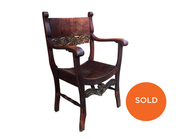 Antique Stomps-Burkhardt Chair with Barrel Seat circa 1900