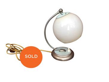 Opal Glass Art Deco Adjustable Sconce circa 1940s