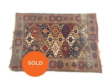 Turkmen Village Rug, Vintage 5'10 x 4'