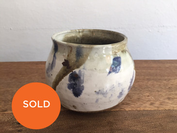 """""""Cooley"""" White and Blue Bowl, Vintage Studio Pottery #2"""