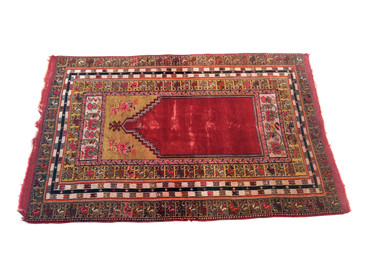 "Anatolian Prayer Rug, Semi-Antique 6'1""x3'10"""