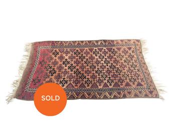 "Balouch Persian Rug, Antique 1890s 5'6""x3'5"""