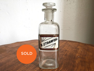 "Antique Apothecary Medium Bottle, ""TR Stramon"""