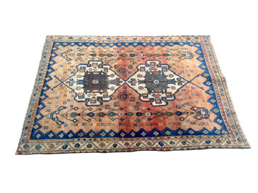 "Heriz Persian Rug, Semi-Antique 5'9""x 4'4"""