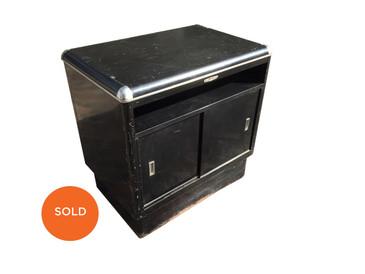 Art Deco Black Cabinet or Credenza, Vintage