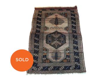 "Balouch Tribal Rug, Antique 1890s 5'4""x3'7"""