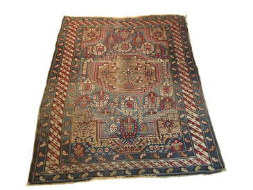 "Shirvan Baku Caucasian Rug, Antique 4'11""x 3'10"""