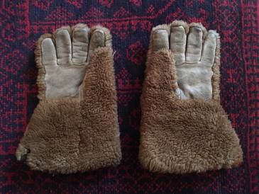 Dogsledding Gloves, Fuzzy Antique