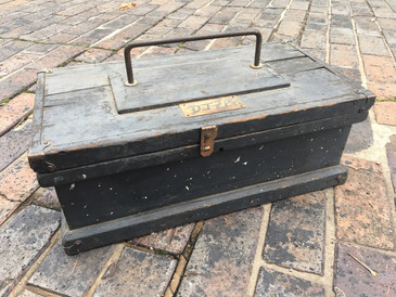 Antique Wooden Painted Tool Box