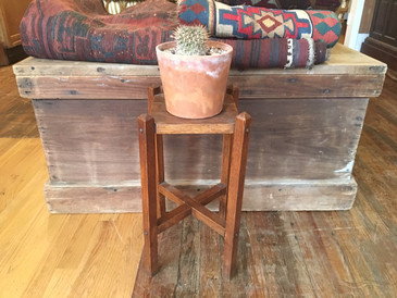 Craftsman Oak Plant Stand, Antique