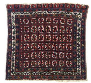 "Afshar Bag Face Rug, Antique 2'1""x2'1"""