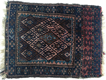 "Kurdish Bag Face Rug,  Antique 3'2"" x 2'3"""