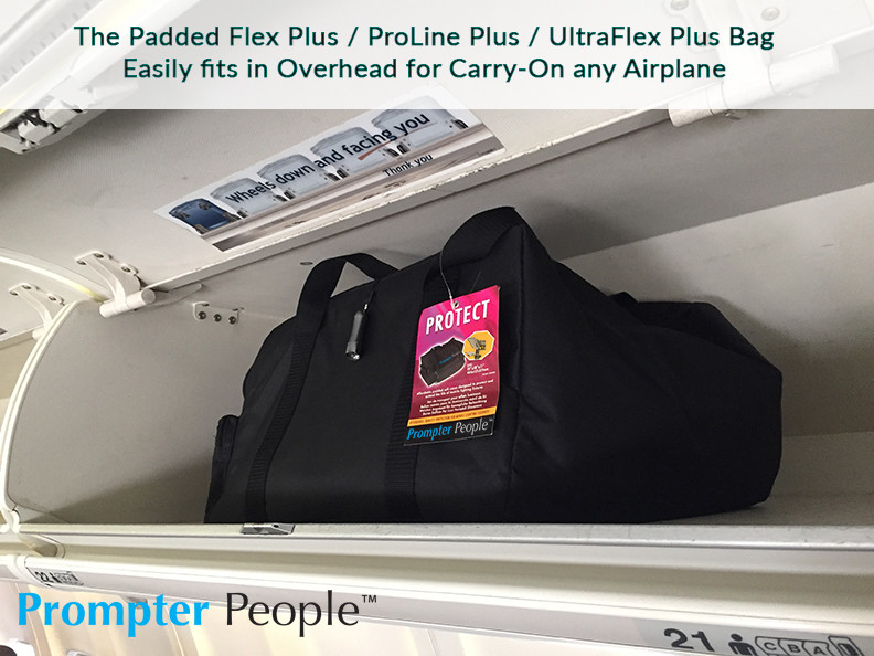 PrompterPeople ProLine Plus Bag in Overhead Airplane