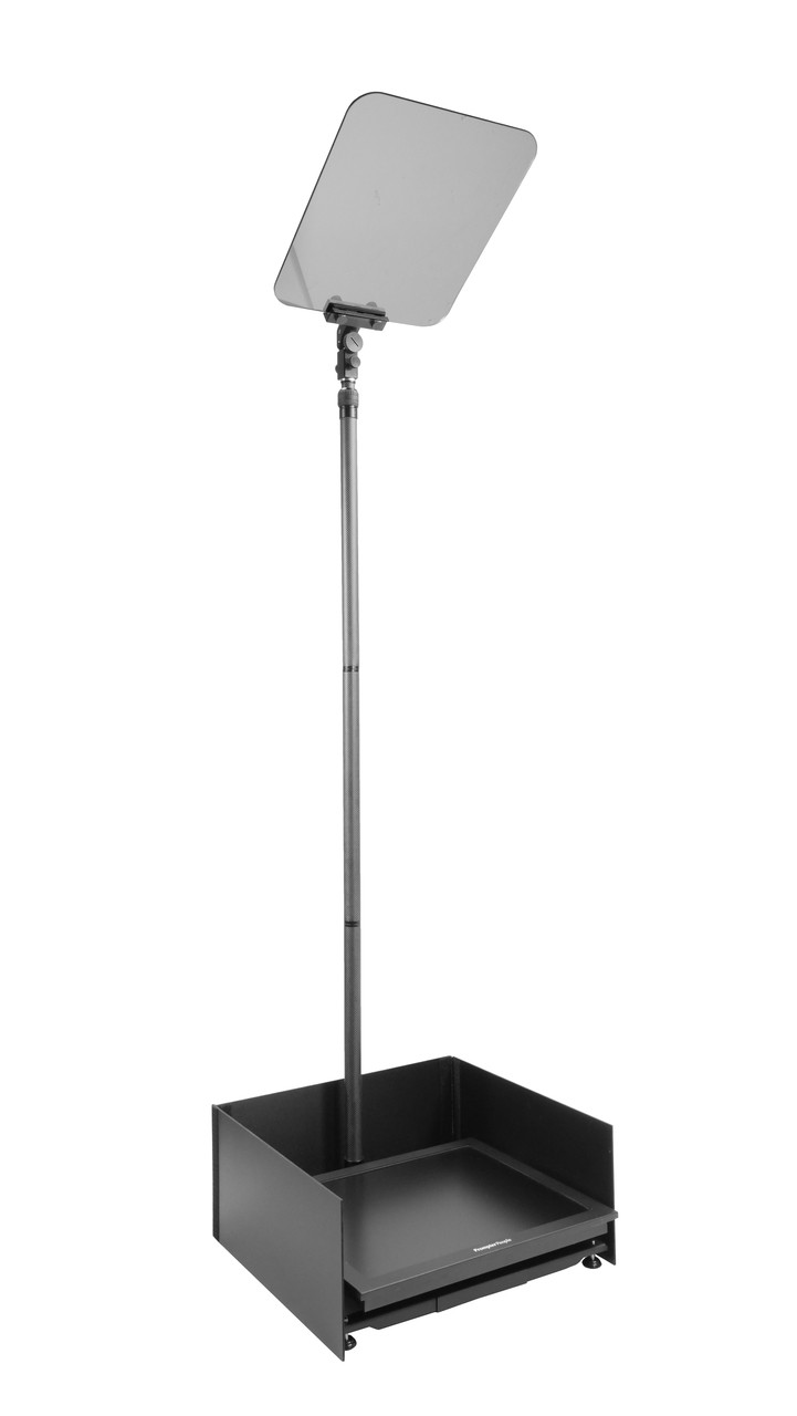 """Stage Pro Carbon Fiber - Stage and Speech Presidential Teleprompter - 19"""" Highbright Monitor - Angled"""