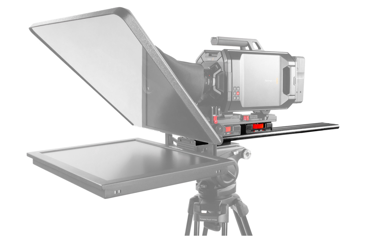 Plus Model Long Sled Add-on for plus models with LowBoy and Tripod Adapter Plate - on Camera - International