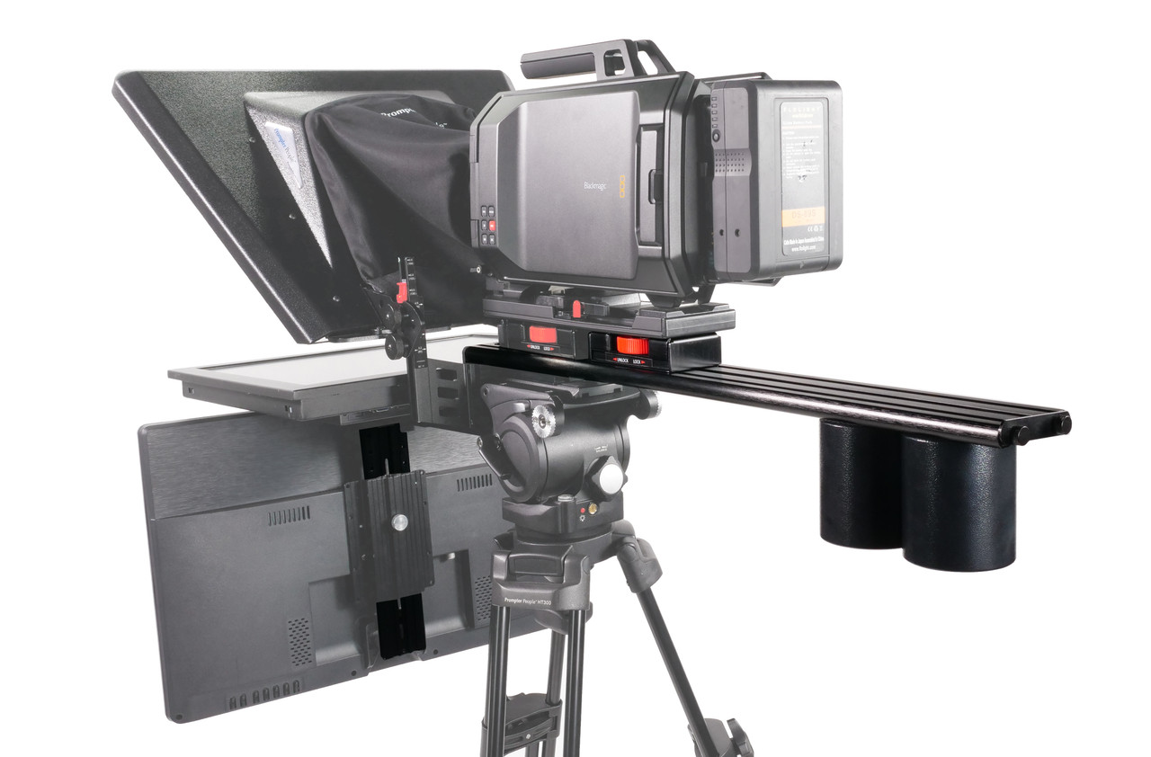 Plus Model Long Sled Add-on for plus models with LowBoy, Tripod Adapter Plate, Vesa Plate, and 2 x Back Weight (Talent Monitor Kit) - International