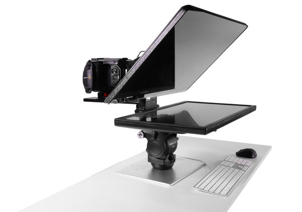 Flex Plus Desktop Teleprompter for Distance Learning, Social Distancing Interviews, Work-At-Home Professionals, Live Streams in home Office, Remote Video Sales and Support - Front EU Internal Version