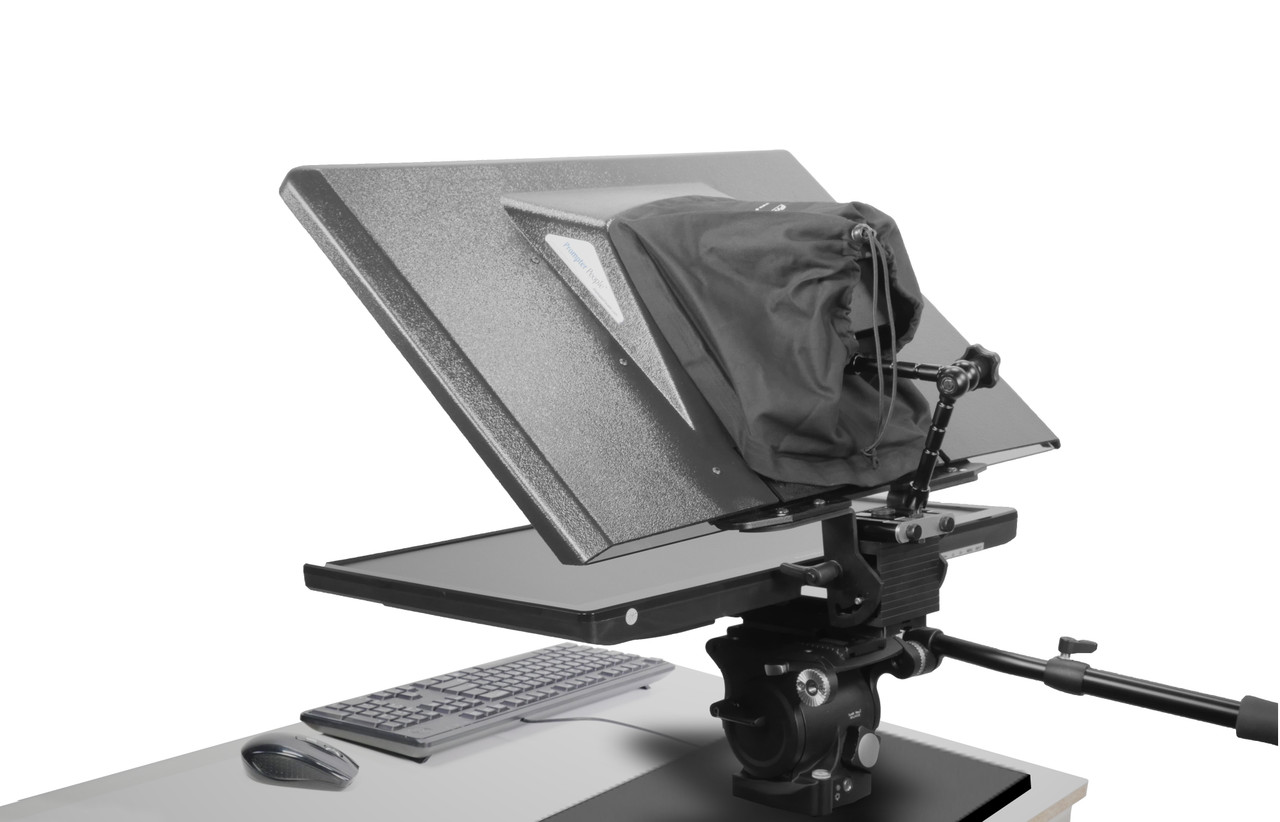 Flex Plus Desktop Teleprompter for Distance Learning, Social Distancing Interviews, Work-At-Home Professionals, Live Streams in home Office, Remote Video Sales and Support - Back EU International Version