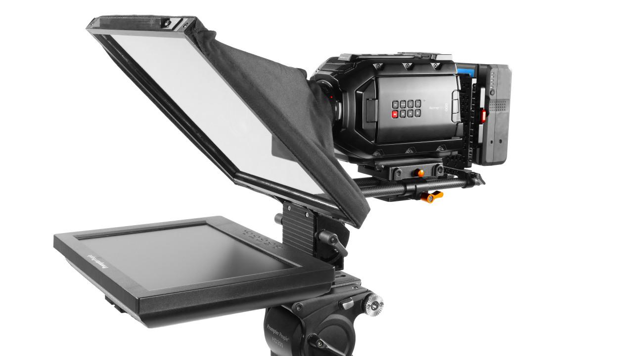 Prompter Pal iPad 12 Regular HDMI 400 NIT AutoReversing Monitor 15mm RailMount Teleprompter