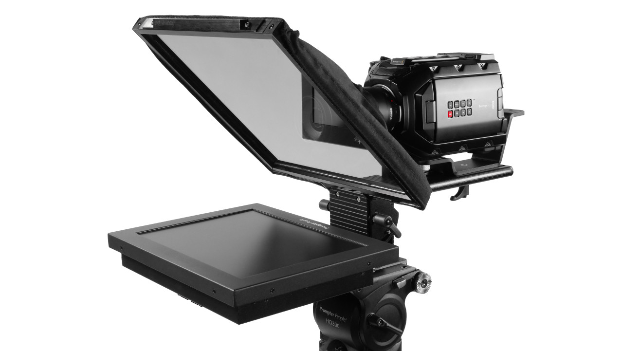 Prompter Pal iPad 12 HighBright HD-SDI, HDMI 1000 NIT AutoReversing Monitor Sled Teleprompter