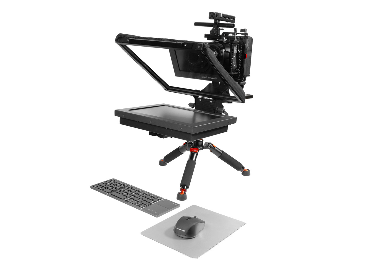 Prompter Pal iPad 12 HighBright HD-SDI, HDMI 1000 NIT AutoReversing Monitor Desktop Remote, Distance Learning, Streaming Teleprompter