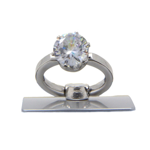INB Diamond Ring Universal Phone Stand Finger Grip Kickstand, Works on iPhone, Samsung and More