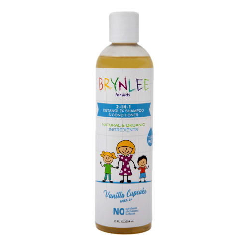 Brynlee 2 in 1 Tear Free Shampoo and Conditioner 12 oz, Natural & Organic