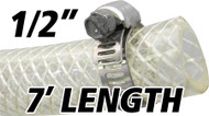 1/2 Inch Reinforced Clear Fuel Hose - 7 Foot Length (202036-7)