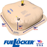 200 Gallon ATL FueLocker Bladder With Filled Dimensions