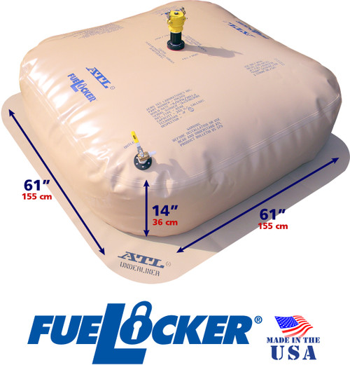 250 Gallon ATL FueLocker Bladder With Filled Dimensions
