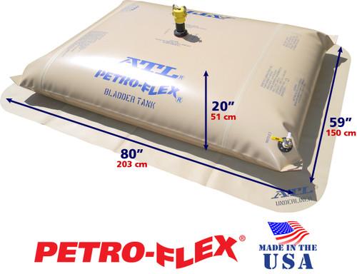 200 Gallon Petro-Flex With Filled Dimensions