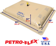 300 Gallon ATL Petro-Flex Fuel Bladder with Filled Dimensions