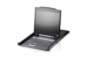 "ATEN CL1316NUKIT: 16-Port 19"" LCD Integrated USB/PS2 Combo KVM w/12 cables"