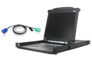 "ATEN CL1016MUKIT: Slideaway™ 16 port 17"" LCD KVM Switch w/full cables"