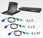 ATEN CLCS1316MUKIT: 17in. LCD Console and 16-port USB/PS2 KVM Switch Bundle w/16 USB KVM cables