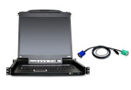 "ATEN CL5708MUKIT: 8-Port Slideaway™ 17"" LCD KVMP Switch w/8 USB KVM Cables"