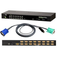 ATEN CS1316KIT: 16-port USB/PS2 KVM Switch w/ 16 USB cables