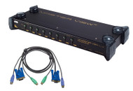 ATEN CS9138kit: 8-port KVM Switch w/Cables, OSD/Rack mountable