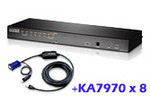 ATEN KH1508AiUKit: KH1508Ai with 8x USB adapter cable cables(KA7970)