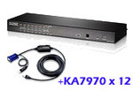 ATEN Altusen KH1516AiUKit: KH1508Ai with 12x USB adapter cable cables(KA7970)