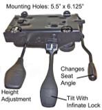 Heavy duty swivel Office Chair Mechanism W Infinite Lock Northfield