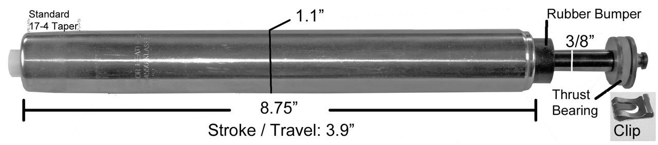 Replacement Gas Spring Pneumatic Cylinder Cartridge