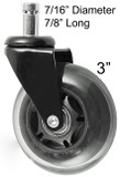 50 Rollerblade Style Wheels Office Chair Soft Casters Hard Floors