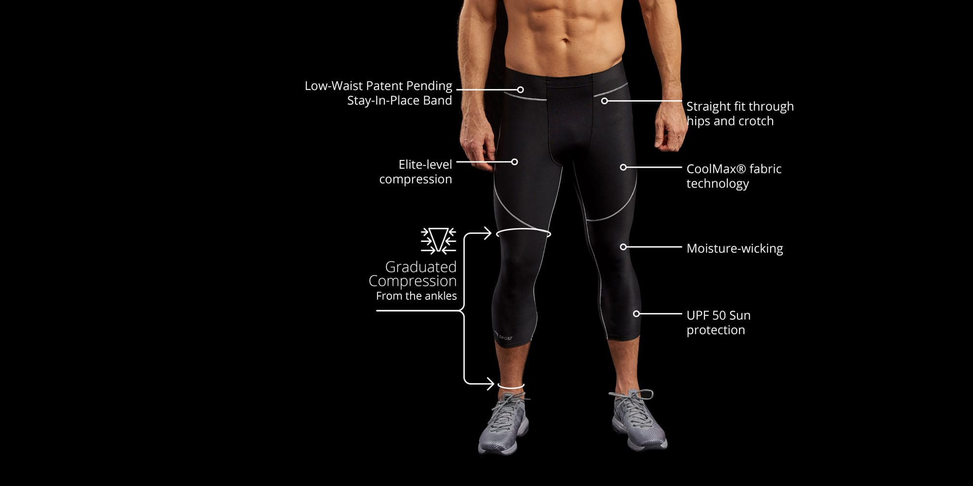 Men's Core: 20-30mmHG compression for everyday activities