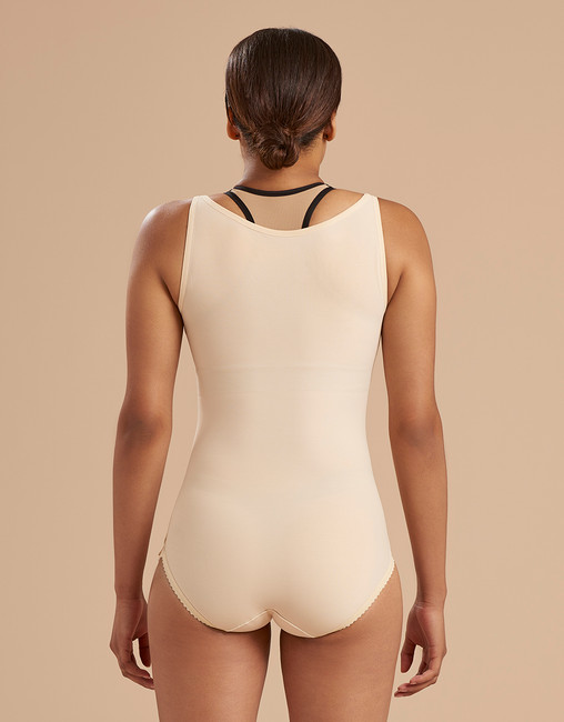 Marena Recovery SFBHA panty length girdle with high back, seen here with the ME-811 bra (sold separately).