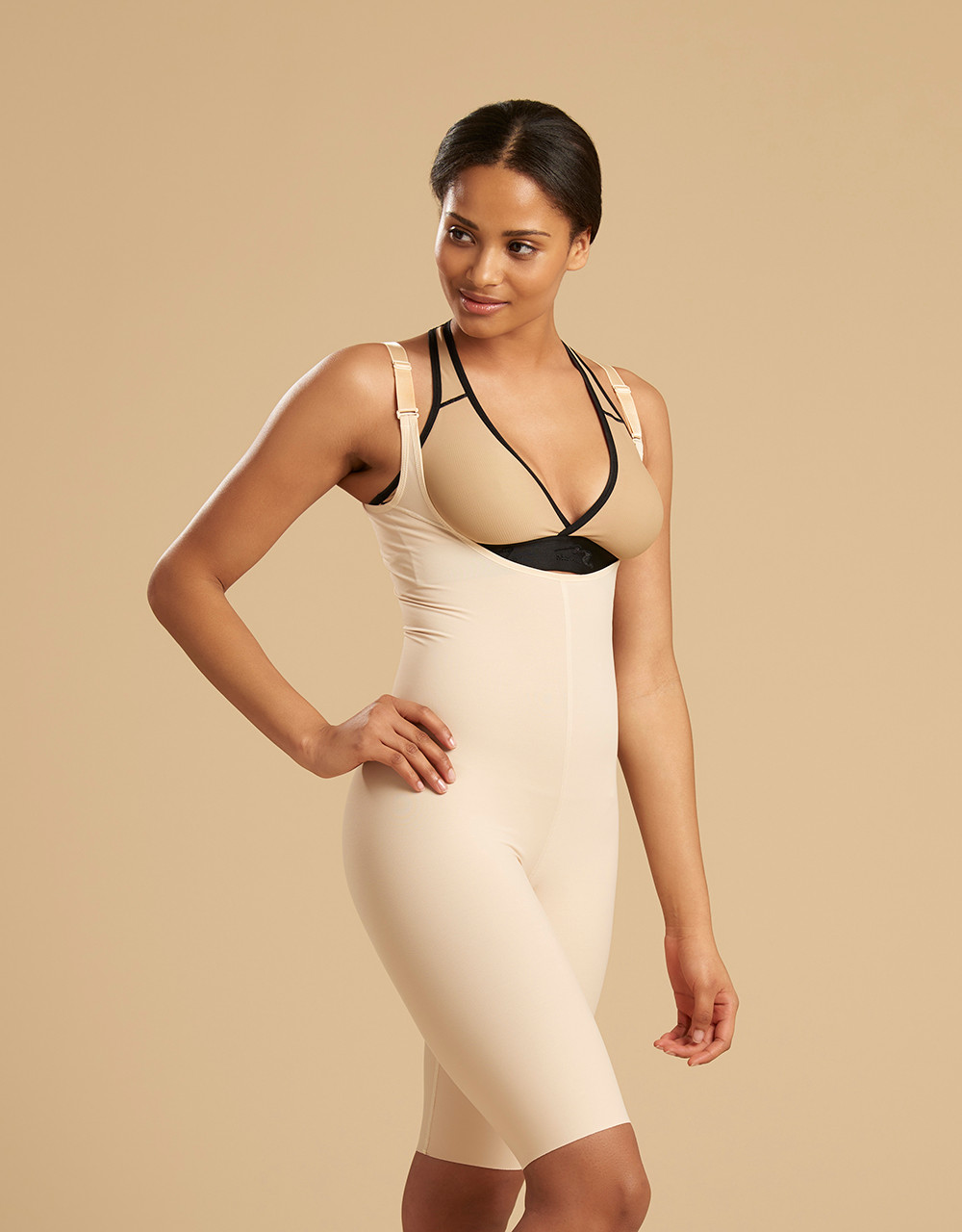 84ee1548462 Marena Recovery SFBHS2 sigh length girdle with high back zipperless