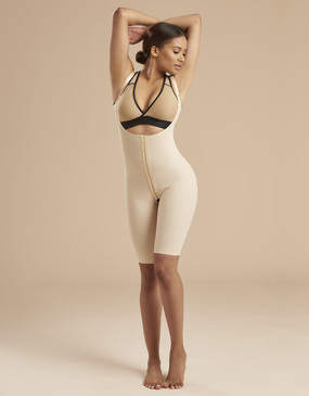 Marena Recovery SFBHS thigh length girdle wit high back, seen here with the ME-811 bra (sold separately).