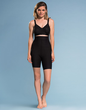 Marena Shape ME-421 high-waist compression shorts, seen here with the B09Z seamless cup bra with zipper (sold separately).