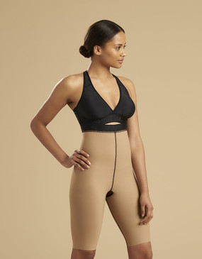 Marena Recovery LGS2 thigh-length compression girdle zipperless, seen here with the ME-811 bra (sold separately).